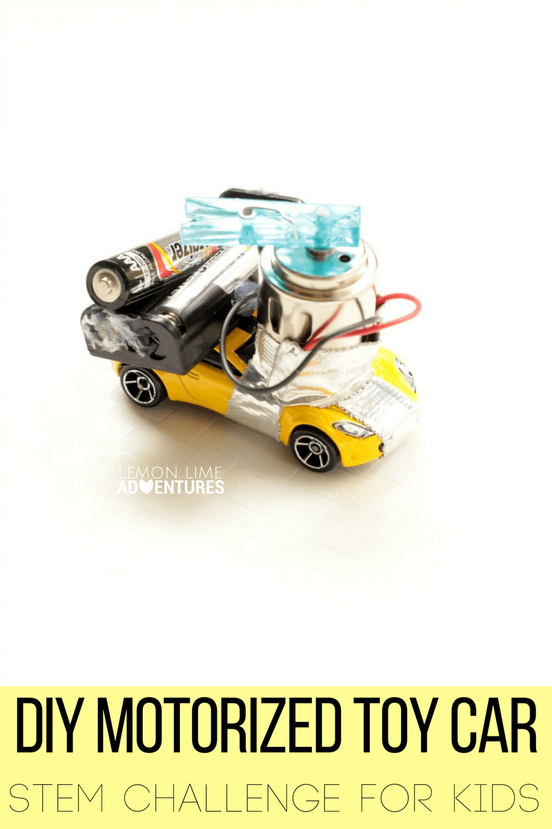 Diy Motorized Toy Car Stem Challenge For Kids Simple Circuit Building Electric Circuits Will Have A Blast Learning About Electrical Engineering And Motors In This