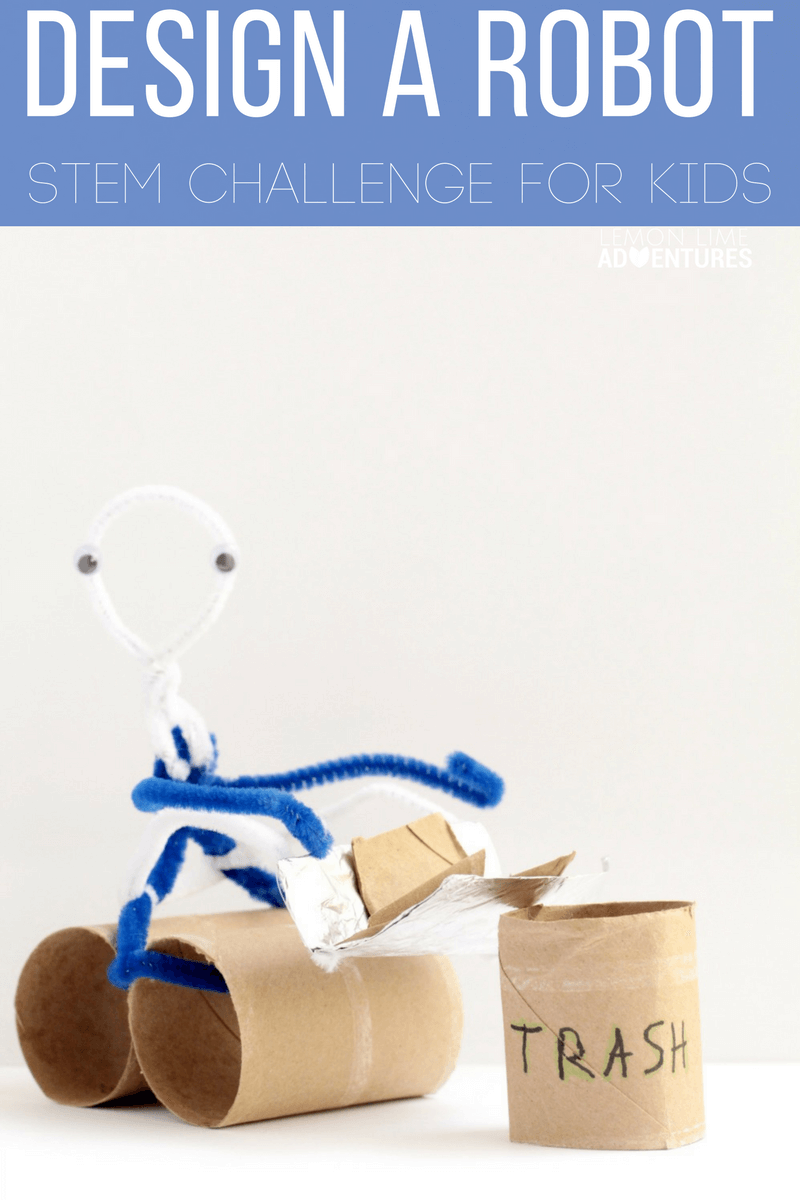 This robot design challenge is a totally fun STEM challenge for kids!