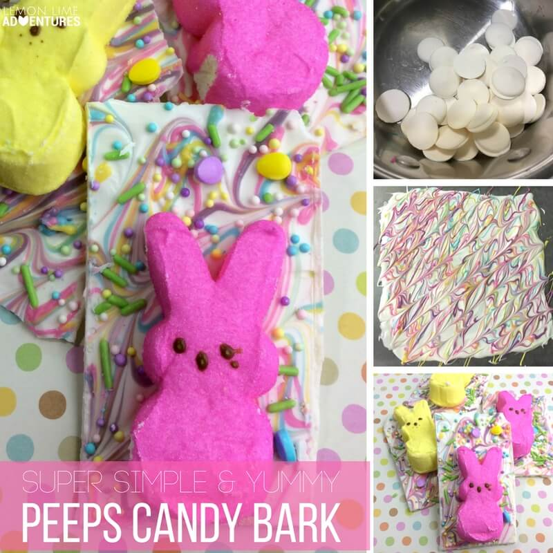 Super Simple and Yummy Peeps Candy Bark