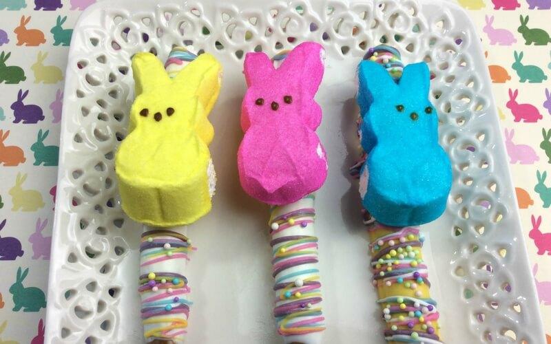 Super Tasty Peeps Pretzel Easter Snacks!