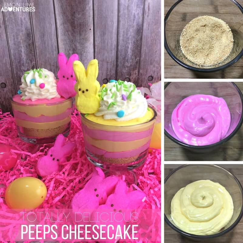 Totally delicious Peeps Cheesecake Easter Dessert!
