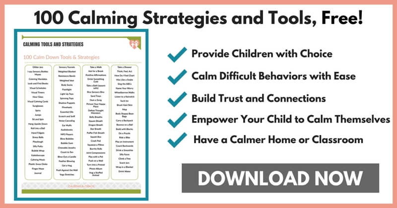 100 Calm Down Tools and Strategies