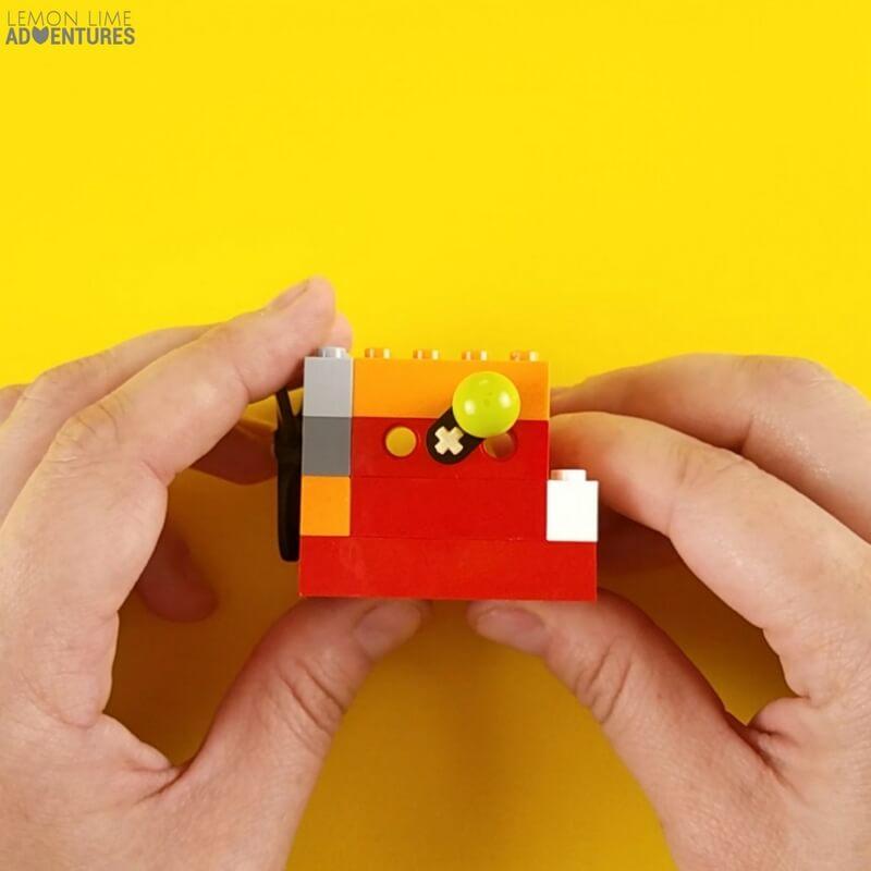 DIY lego Fidget Cube wall with lever