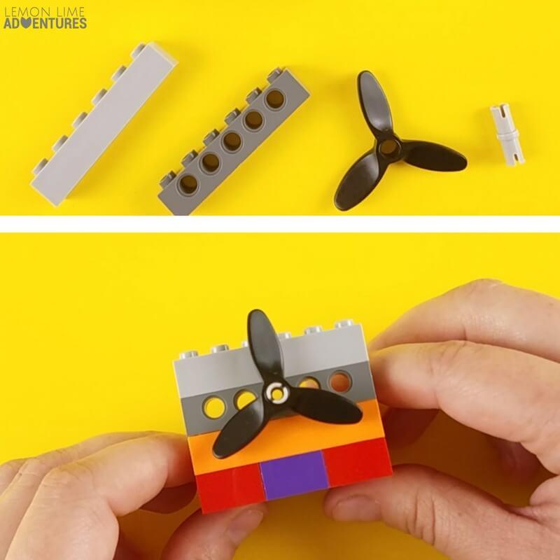 DIY lego Fidget Cube wall with spinner