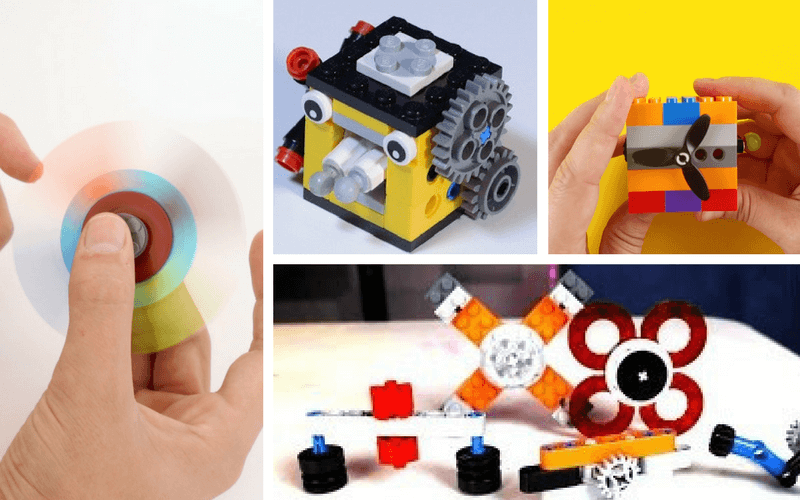 DIY Lego Fidget Spinners and Cubes