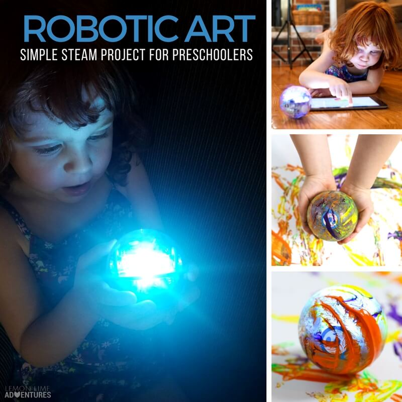Robotic Art- Simple Preschool Steam Project