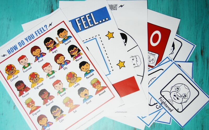 Teach Kids About Super Big Emotions with Superheroes