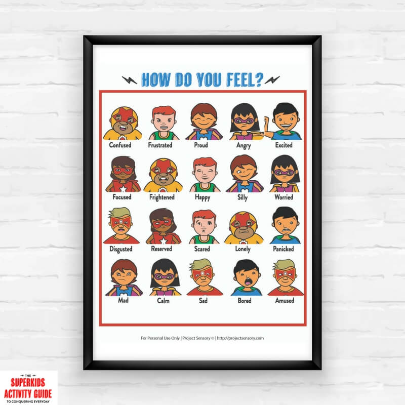 picture relating to Printable Feelings Chart named Prepare Young children Above Tremendous Significant Thoughts with Superheroes