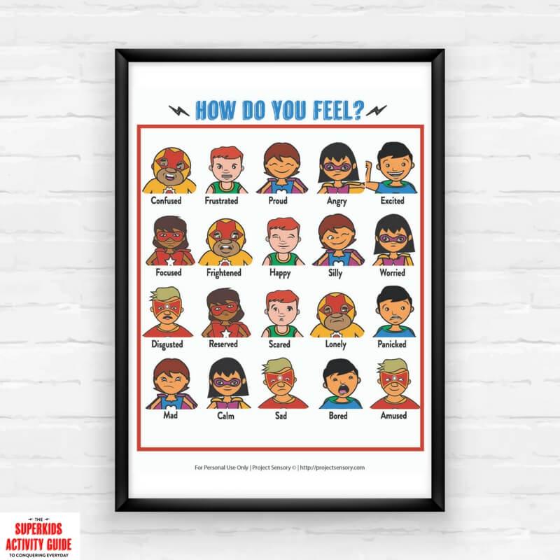 Superhero Feelings Chart Printable