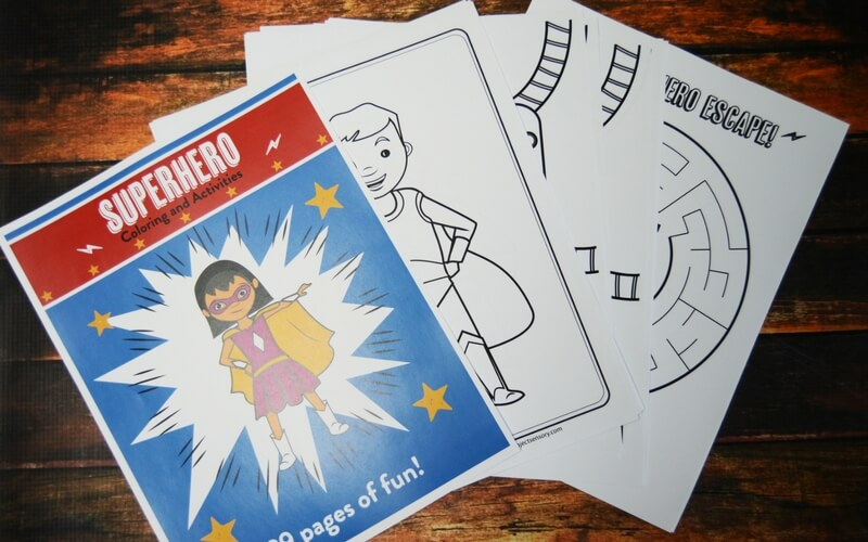 Calming Superhero Coloring Book for Wiggly SuperKids