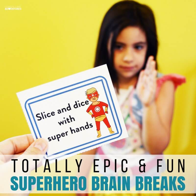 Totally Epic Superhero Brain Break Cards for Kids Who Can't Sit Still