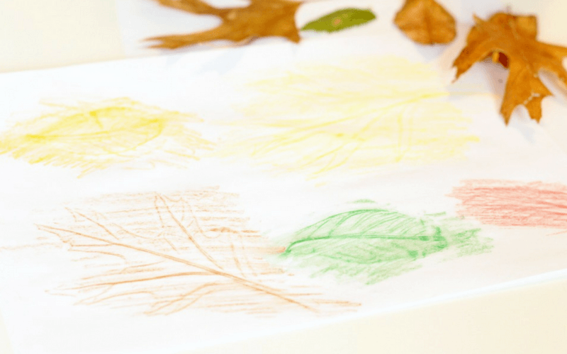 Totally Awesome Fall Leaf Rubbing Sensory Activity