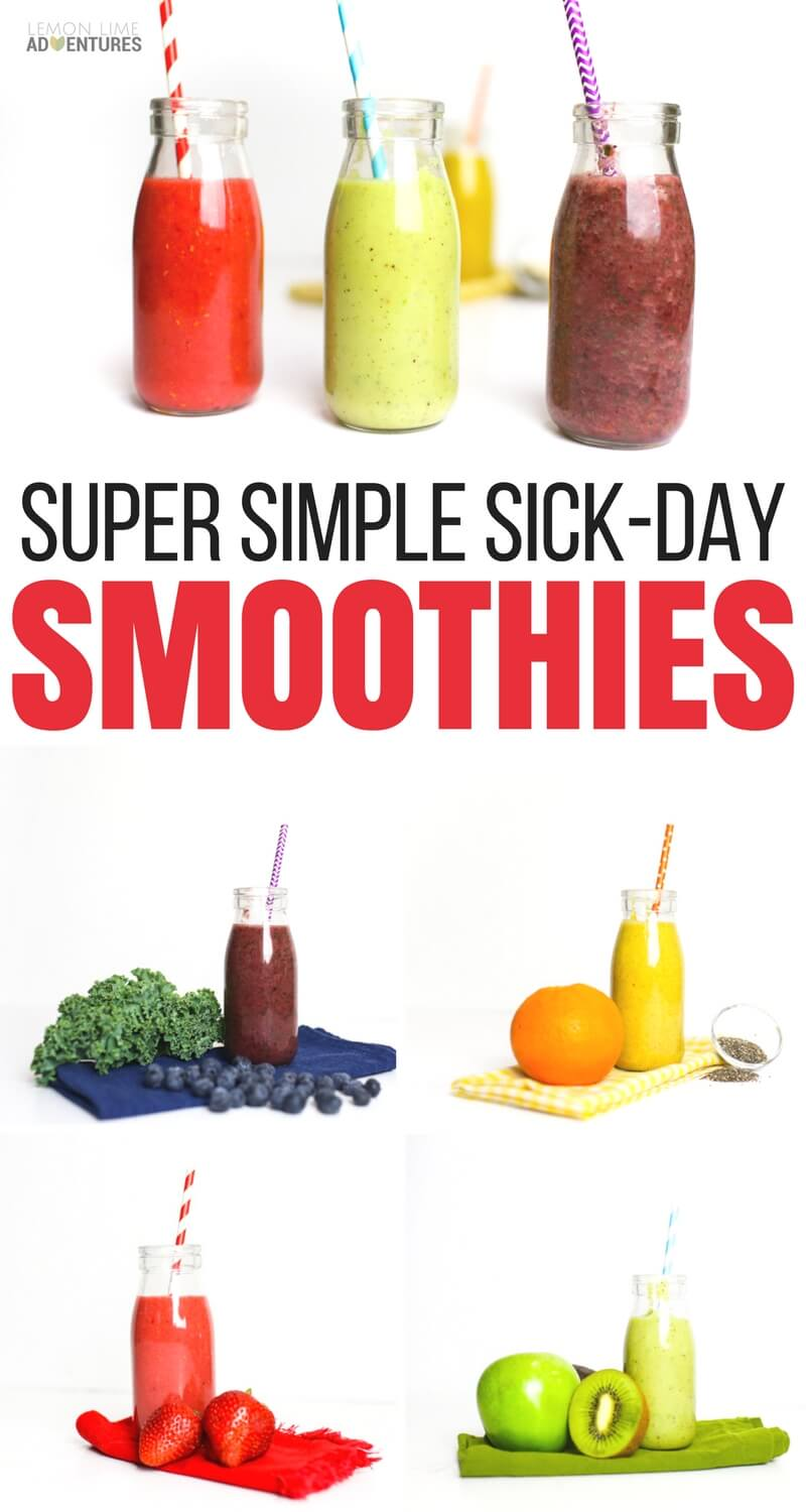 Super Simple Sick Day Smoothies