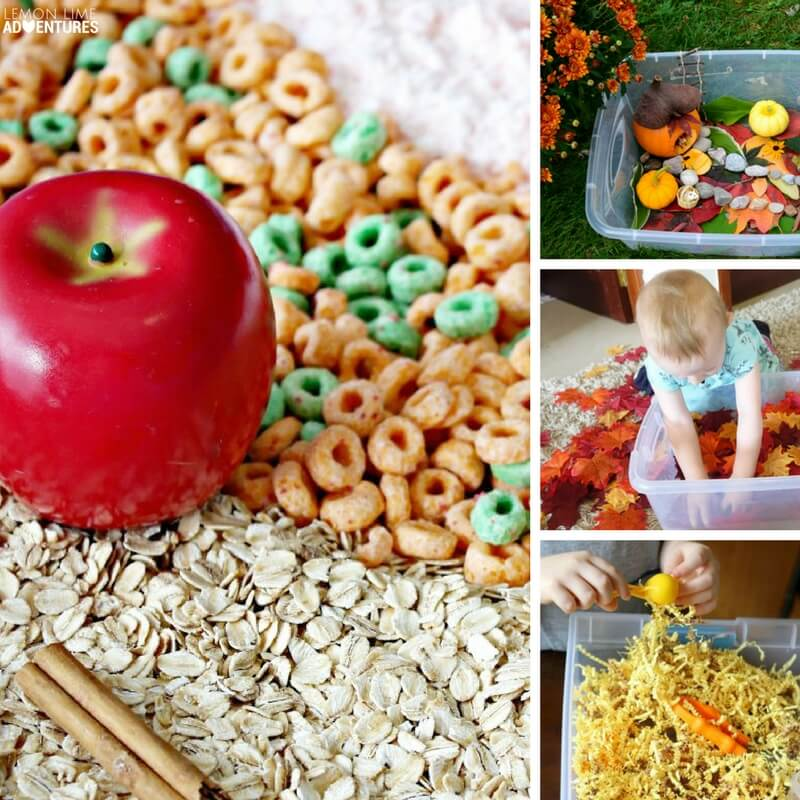 Totally Awesome Fall-Themed Sensory Bins for Kids!
