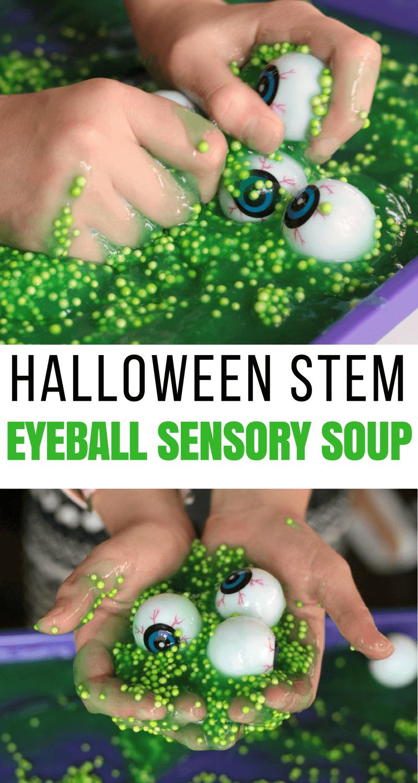 Spooky Sensory Tub Halloween STEM Activity for Kids