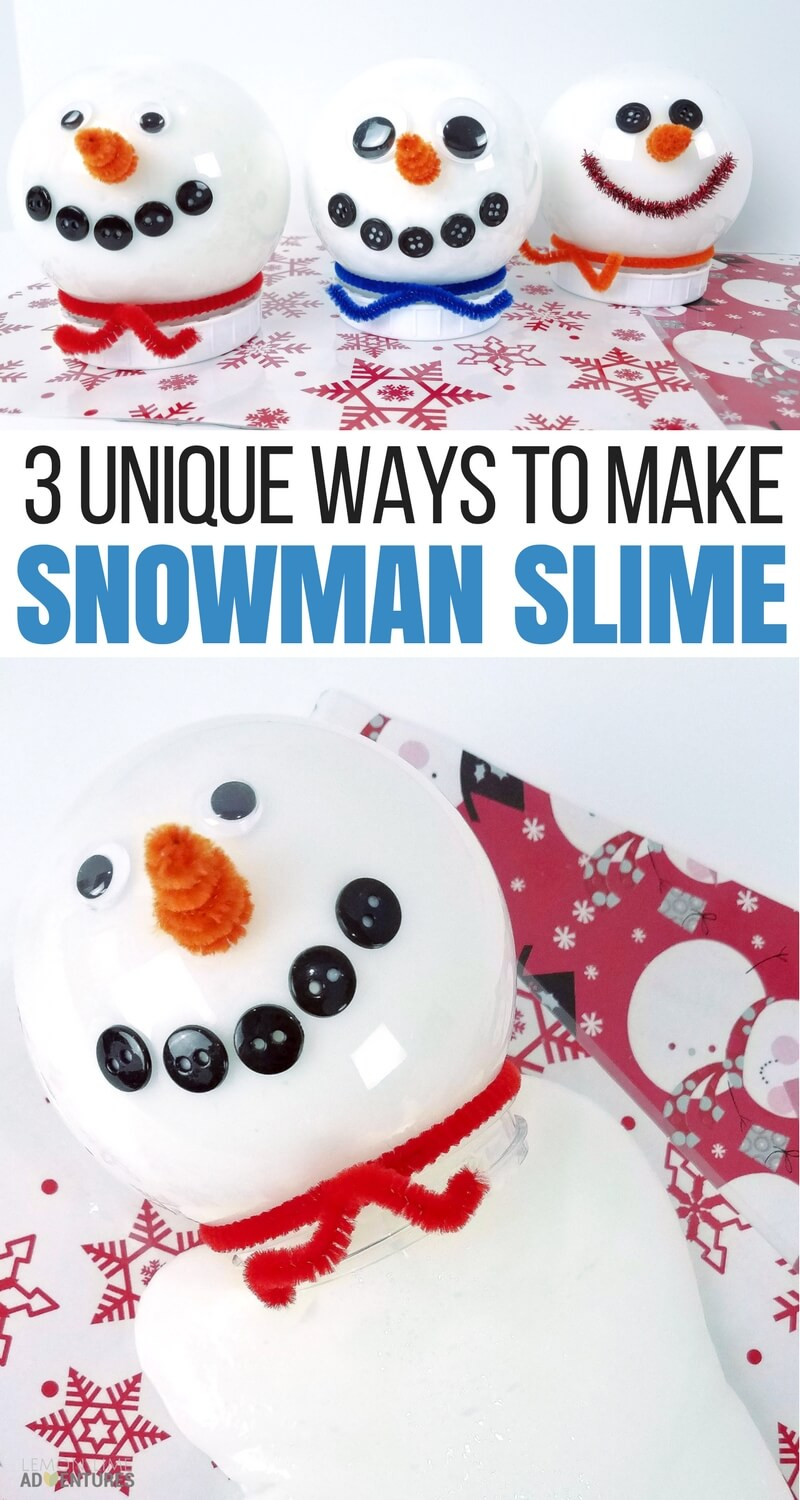 3 unique ways to make snowman slime