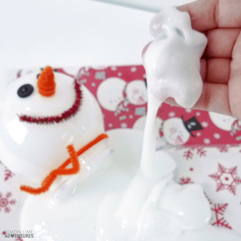 What You Need to Make Contact Solution Snowman Slime