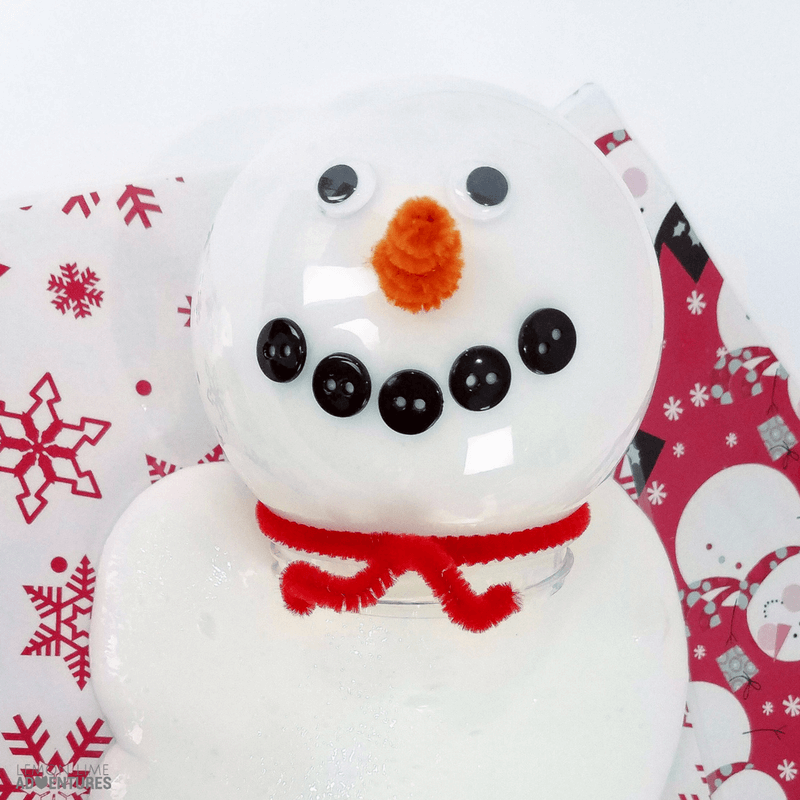 Snowman Slime- 3 Simple snow slime recipes