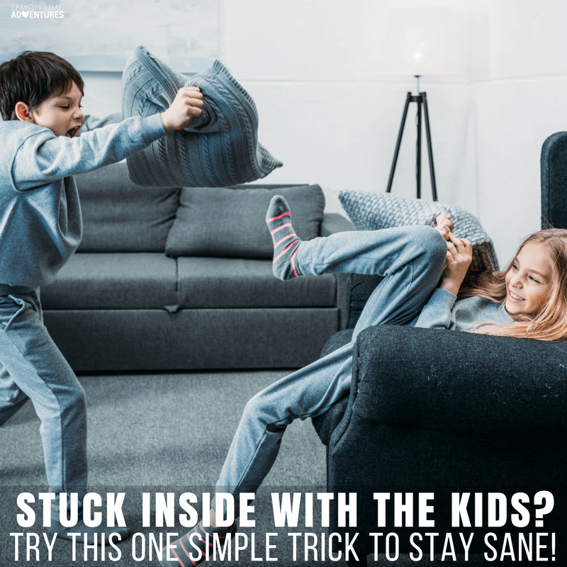 Stuck inside with the kids during cold weather? Try this one simple trick to stay sane! Trust me, you'll thank me for this one!