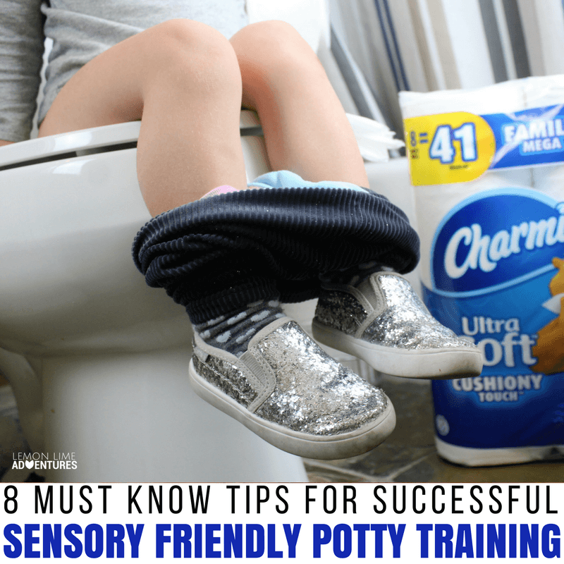 8 must know tips for successful sensory friendly potty training #pottytraining #pottytrainingtips #sensoryprocessing #parenting #parenting101