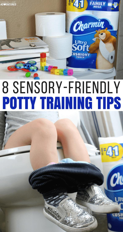 8 Must Know Sensory Friendly Potty Training #pottytraining #sensoryprocessing #parenting #pottytrainingtips #parentingtips