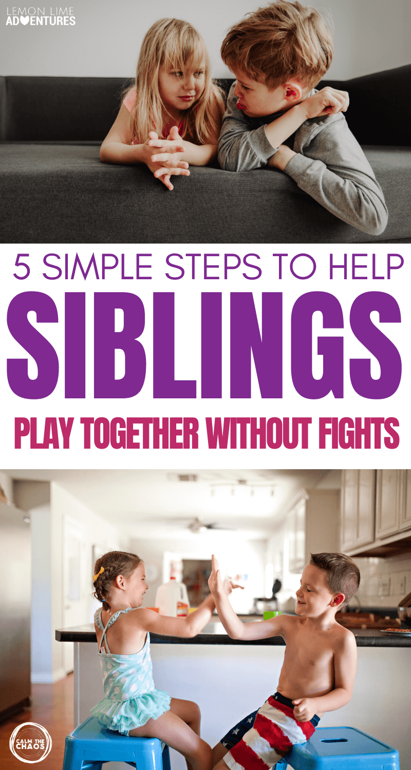 5 Simple Steps to Help Siblings Play Together Without Fights