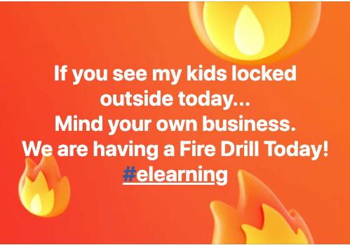 elearning locked outside meme